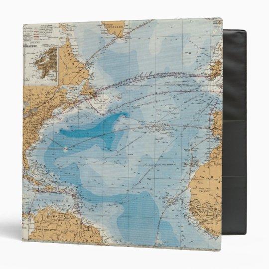 North Atlantic Ocean Map Binder
