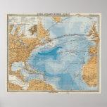 "North Atlantic Ocean Map Poster<br><div class=""desc"">Nord-Atlantischer Ocean. By Stieler,  Adolf (187). Published by &#39;&#39;Gotha: Justus Perthes&#39;&#39;.</div>"