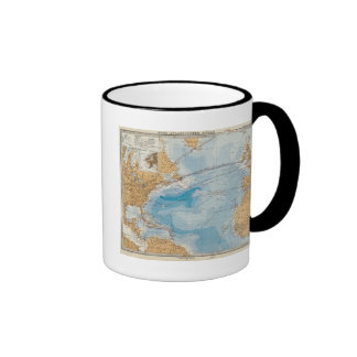 North Atlantic Ocean Map Ringer Mug