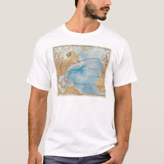 North Atlantic Ocean Map T-Shirt
