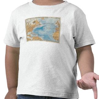 North Atlantic Ocean Map Tshirt