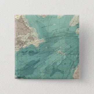North Atlantic Ocean Pinback Button
