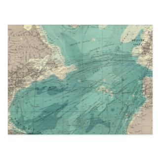 North Atlantic Ocean Postcard