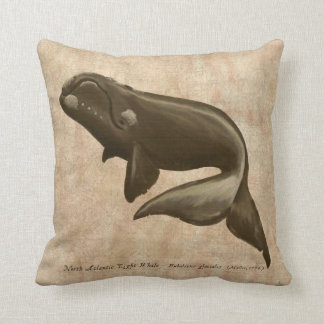 North Atlantic Right Whale Throw Pillow