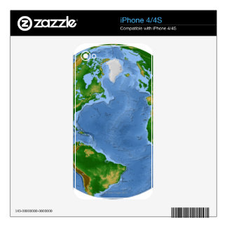 North Atlantic Vegetation Map Decal For The iPhone 4S