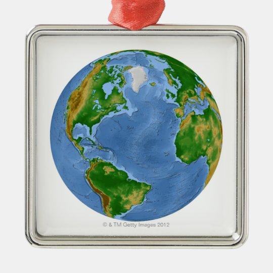 North Atlantic Vegetation Map Metal Ornament