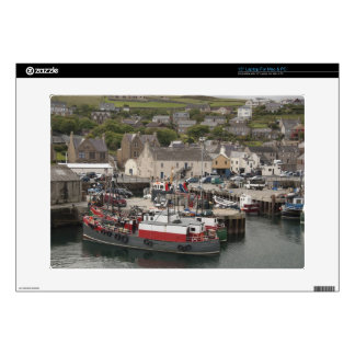 "North Atlantic waterfront port of Stromness 15"" Laptop Skins"