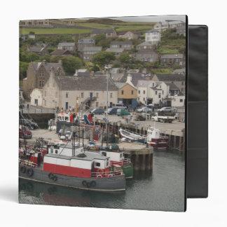 North Atlantic waterfront port of Stromness Vinyl Binders