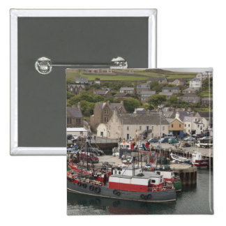 North Atlantic waterfront port of Stromness 2 Inch Square Button