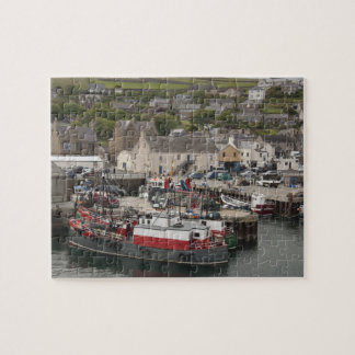 North Atlantic waterfront port of Stromness Jigsaw Puzzle