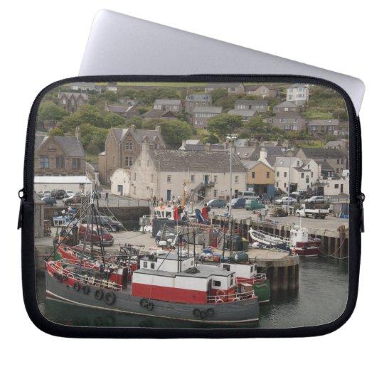 North Atlantic waterfront port of Stromness Laptop Sleeve