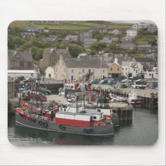 North Atlantic waterfront port of Stromness Mouse Pad