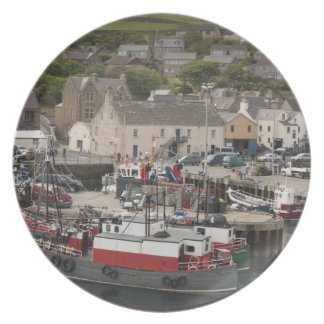 North Atlantic waterfront port of Stromness Plate