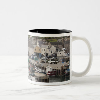North Atlantic waterfront port of Stromness Two-Tone Coffee Mug