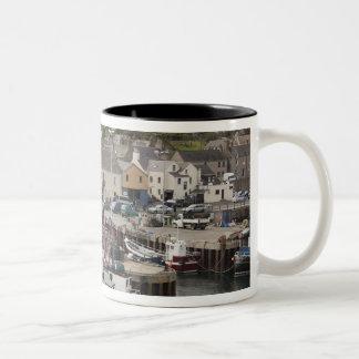North Atlantic waterfront port of Stromness Two-Tone Coffee Mug