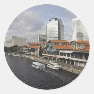 north bank Jacksonville Florida plaza Classic Round Sticker