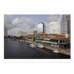 north bank Jacksonville Florida plaza Post Card