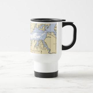 North Bay lynn Haven, Florida Nautical Chart Mug