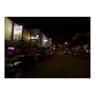 North Beach at Night Poster