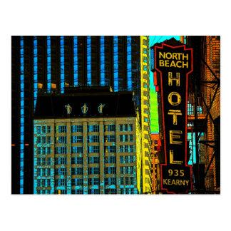 North Beach Hotel Muses Postcard