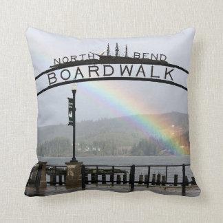 """North Bend Boardwalk"" Throw Pillow"