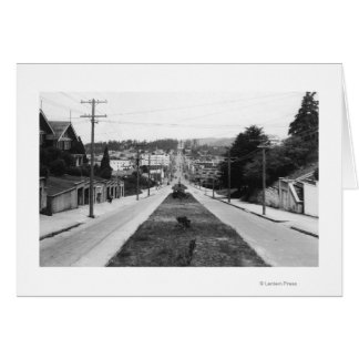 North Bend, Oregon Town View Photograph Card