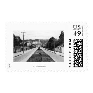 North Bend, Oregon Town View Photograph Postage