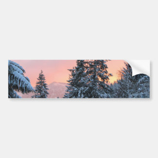 North Bend Snow Sunset Bumper Sticker