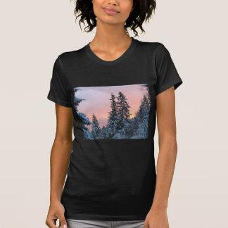North Bend Snow Sunset T-shirt