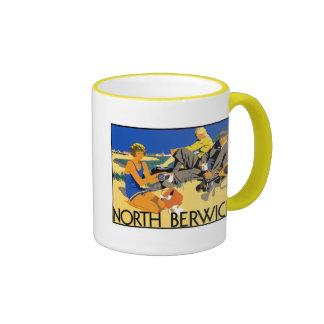 North Berwick Beach Ringer Coffee Mug