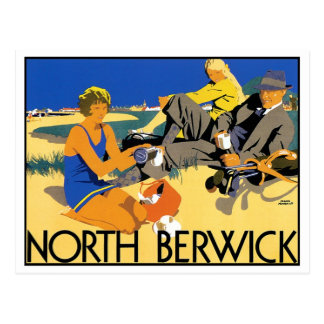 North Berwick Beach Postcard