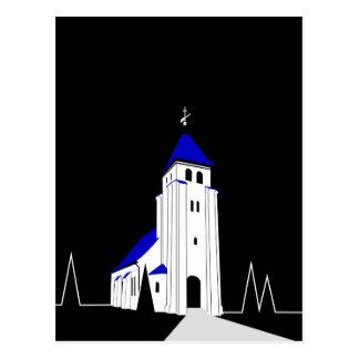 North Bjert Church - Night Postcard