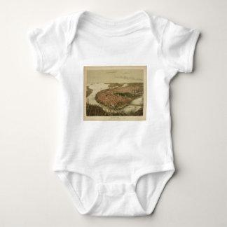 North Boston Massachusetts 1877 by John Bachmann Baby Bodysuit