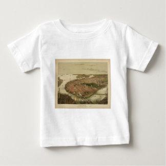 North Boston Massachusetts 1877 by John Bachmann Baby T-Shirt