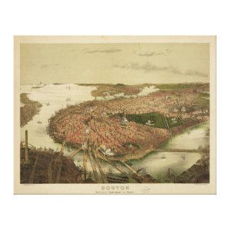 North Boston Massachusetts 1877 by John Bachmann Canvas Print