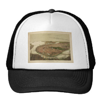 North Boston Massachusetts 1877 by John Bachmann Trucker Hat