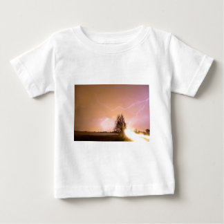 North Boulder County Colorado Lightning Strike Baby T-Shirt