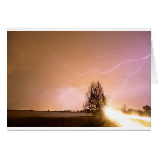 North Boulder County Colorado Lightning Strike Greeting Card