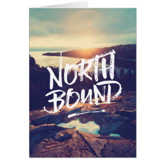 North Bound Quote Brush Typography Photo Template