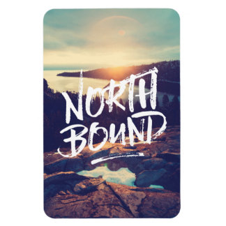 North Bound Quote Brush Typography Photo Template Magnet