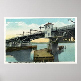 North Bridge Connecting Lewiston and Auburn Poster