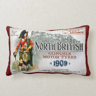 North British Clincher Motor Tyres Tires 1909 Throw Pillow