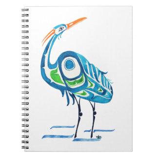North By Northwest Blue Crane Notebook