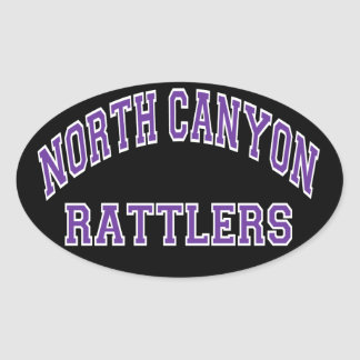 North Canyon Rattlers Oval Sticker