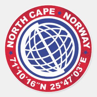 NORTH CAPE SPECIAL NORWAY PEGATINA REDONDA