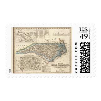 North Carolina 2 Postage Stamps