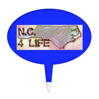 """North Carolina 4 Life"" State Map Pride Design Cake Topper"