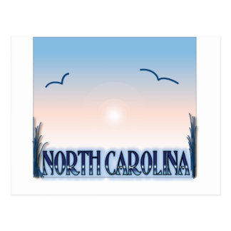 North Carolina Airbrush Sunset Postcard