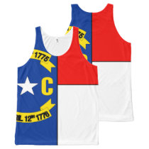 NORTH CAROLINA All-Over-Print TANK TOP