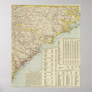 North Carolina and South Carolina 2 Poster